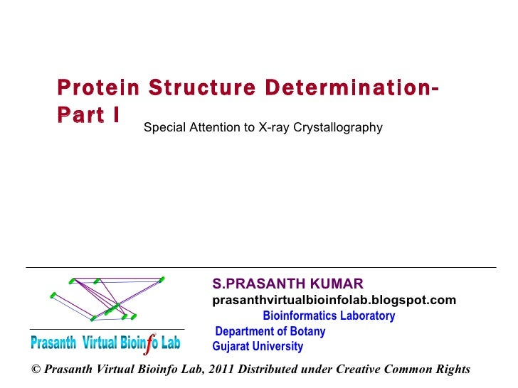 S.PRASANTH KUMAR   prasanthvirtualbioinfolab.blogspot.com  Bioinformatics Laboratory  Department of Botany  Gujarat Univer...