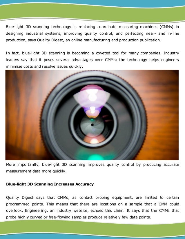 Structured Light 3D Scanning Replaces CMMs in Quality