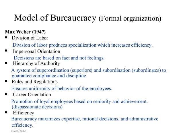 Structure in schools hoy n miskel for 6 characteristics of bureaucracy