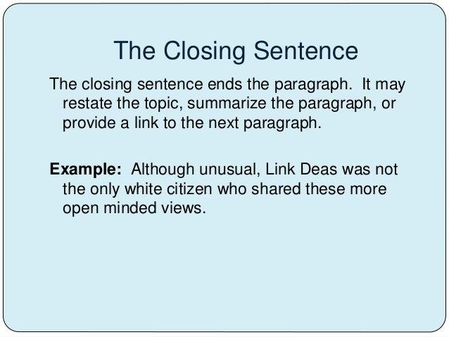 closing composition techniques