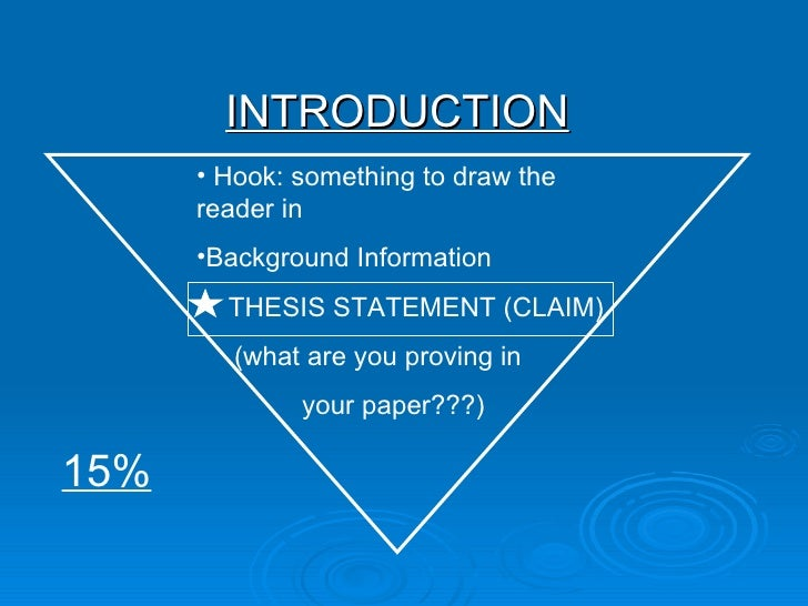 format for writing a thesis paper