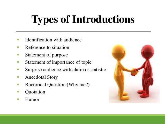 Structure of a Speech (Introduction & Conclusion)