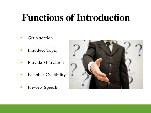 how to end an introduction speech
