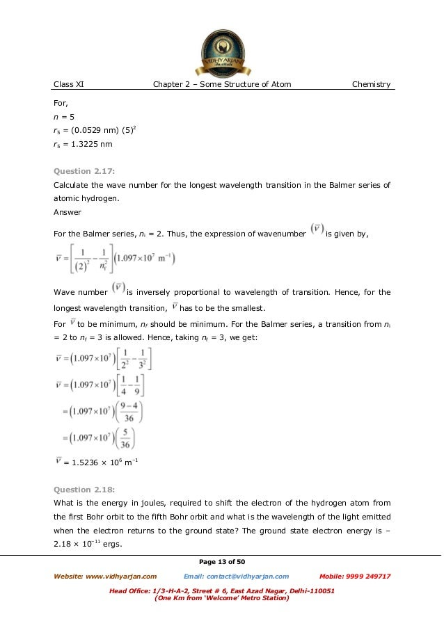 Structure of atom exercise with solutions – Quantum Number Worksheet