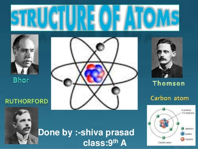 Structure of atom ppt by shiva prasad class 9th a done by shiva prasad class9th a ccuart Choice Image