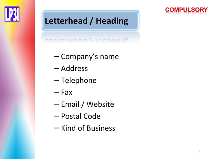 the structure of business letter andarsih sintorowati - Kind Of Business Letter