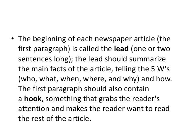 Structure of contemporary newspaper. Slide 3