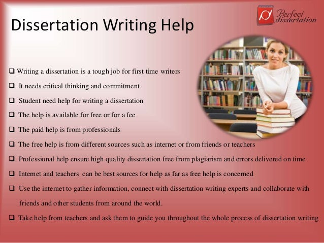 Dissertation Writing Help  Writing a dissertation is a tough job for first time writers  It needs critical thinking and ...
