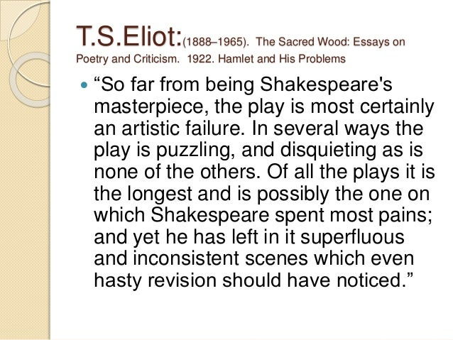 t.s. eliot essay on hamlet
