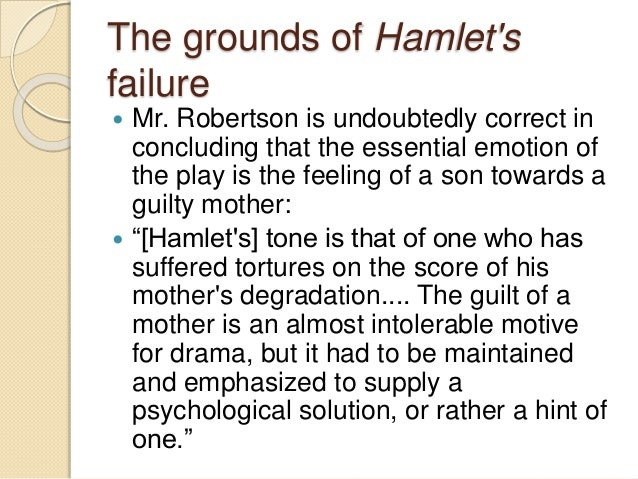 "hamlet guilt essay Hamlet's essential nature is revealed in his first soliloquy: ""it has been argued that here shakespeare develops the theme of appearance versus reality and that the ghost "" was about to speak when the cock crew, and then it started like a guilty thing"" (11162-163) horatio is startled when hamlet remarks he thinks he."