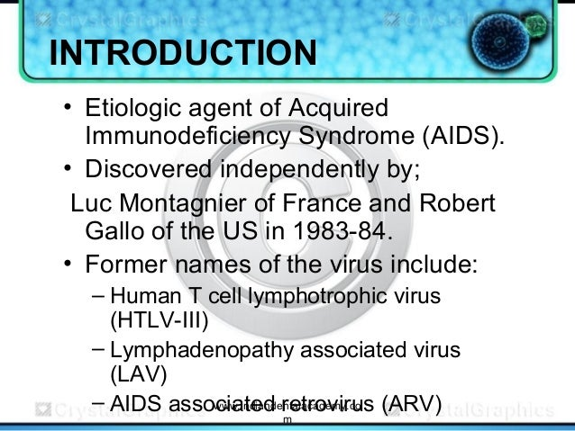 an analysis of the role of hiv in aids proven by gallo