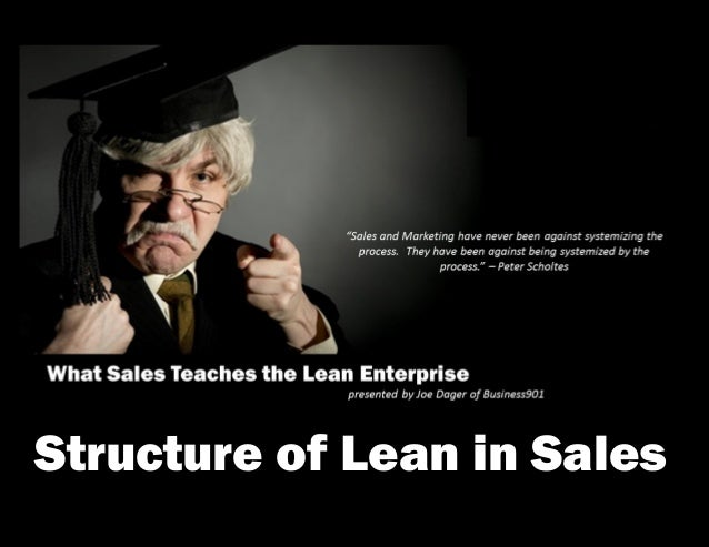Structure of Lean in Sales