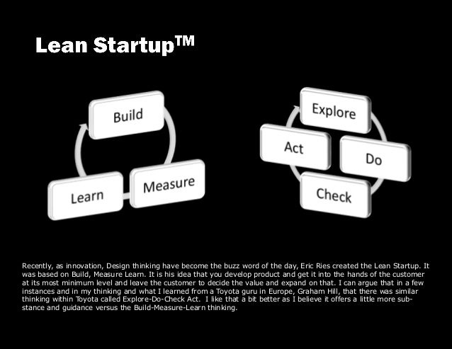 Recently, as innovation, Design thinking have become the buzz word of the day, Eric Ries created the Lean Startup. It was ...