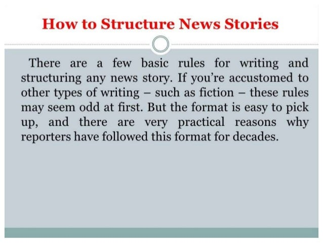 Structure of news story