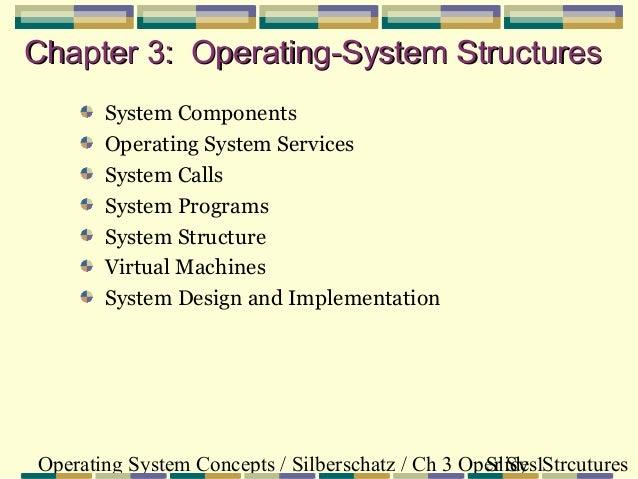 Operating System Concepts / Silberschatz / Ch 3 Oper Sys StrcuturesSlide 1 Chapter 3: Operating-System StructuresChapter 3...