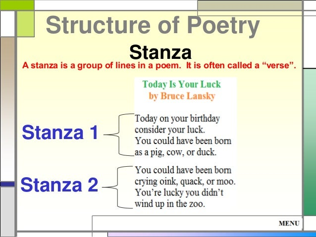 Poetry And Stanzas Reading
