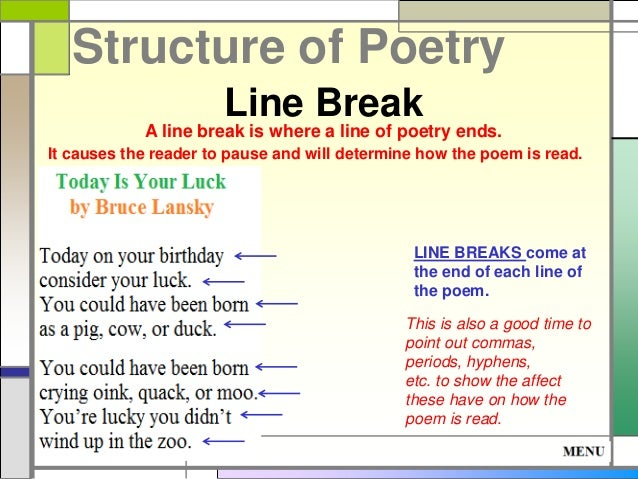 Structure of poetry