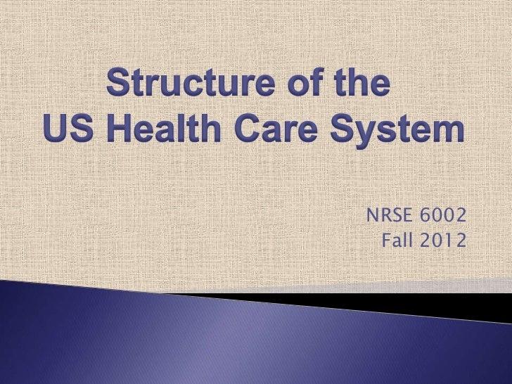 NRSE 6002 Fall 2012