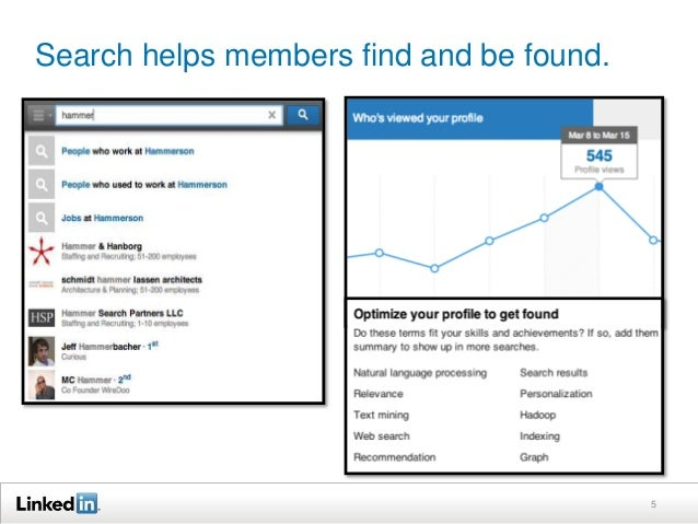 Search helps members find and be found. 5