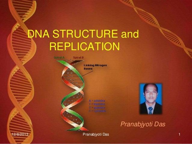DNA STRUCTURE and REPLICATION  Pranabjyoti Das 12/8/2013  Pranabjyoti Das  1