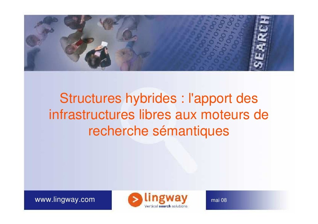 Structures hybrides : l'apport des    infrastructures libres aux moteurs de            recherche sémantiques    www.lingwa...
