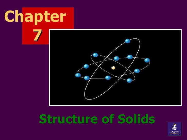 Structure of Solids Chapter  7