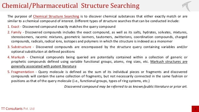 Chemical Structure Search Analysis and Its Cost