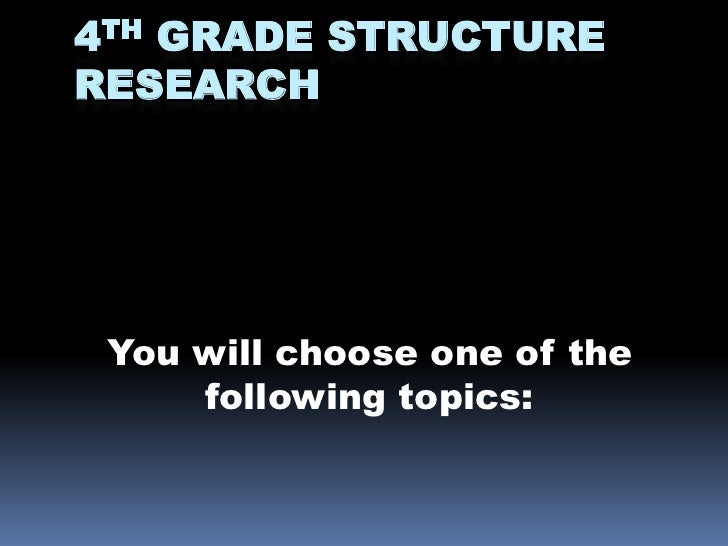4th Grade Structure Research <br />You will choose one of the following topics:<br />