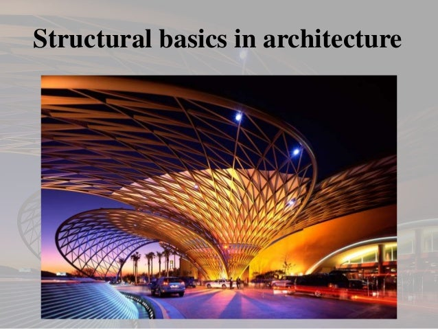 Structural basics in architecture