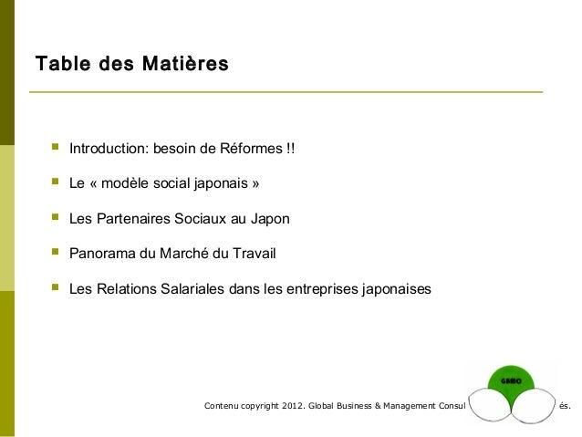 GBMC Presentation - Les Structures Sociales du Japon - Philippe Huysveld Slide 2