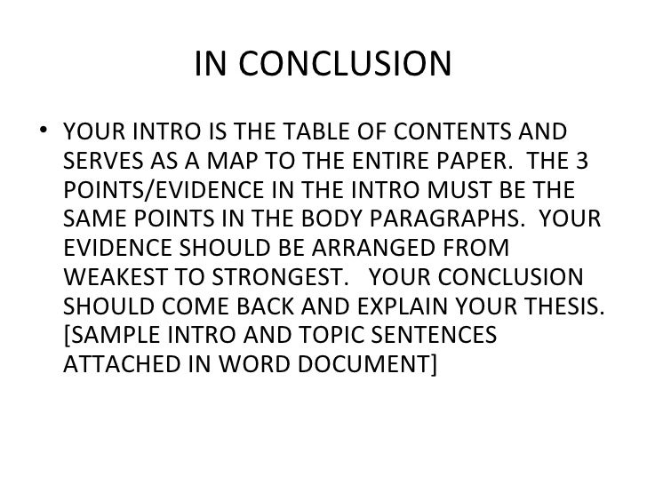 Structuring a compare and contrast paper