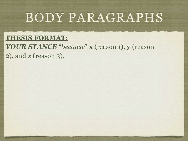 written argument format