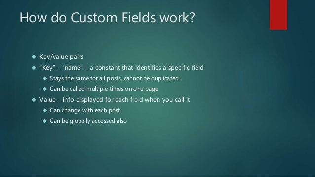 Structuring Content in WordPress using Advanced Custom Fields Slide 3