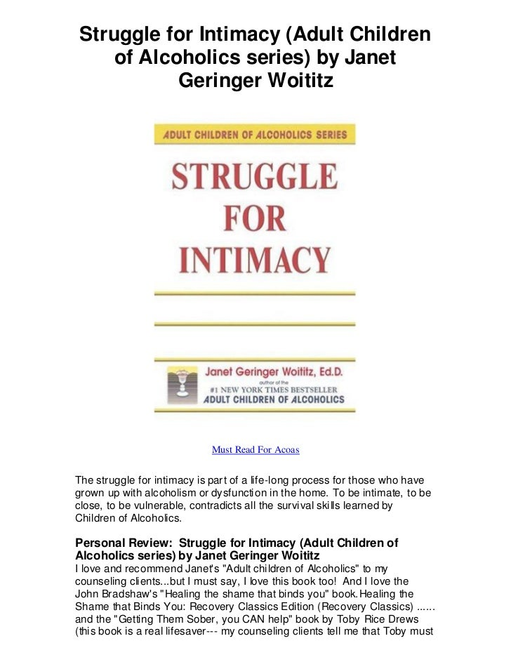 Struggle for Intimacy (Adult Children    of Alcoholics series) by Janet           Geringer Woititz                        ...