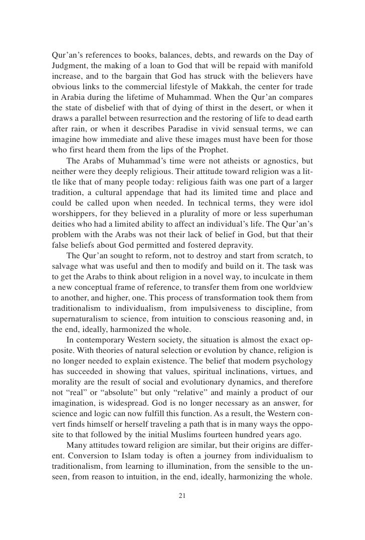 an analysis of an evaluation of the book by john esposito on islam the straight path The points on an expansion path occur where expansion path forms a straight line give an introduction to islam the book, authored by john l esposito.