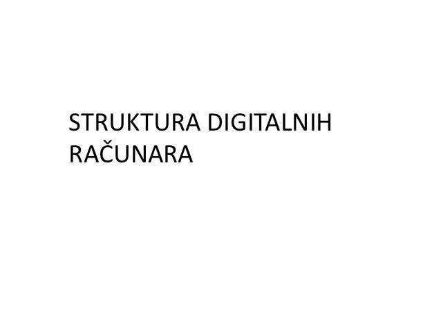 STRUKTURA DIGITALNIHRAČUNARA