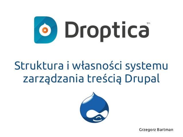 Struktura i własności systemu zarządzania treścią Drupal Grzegorz Bartman