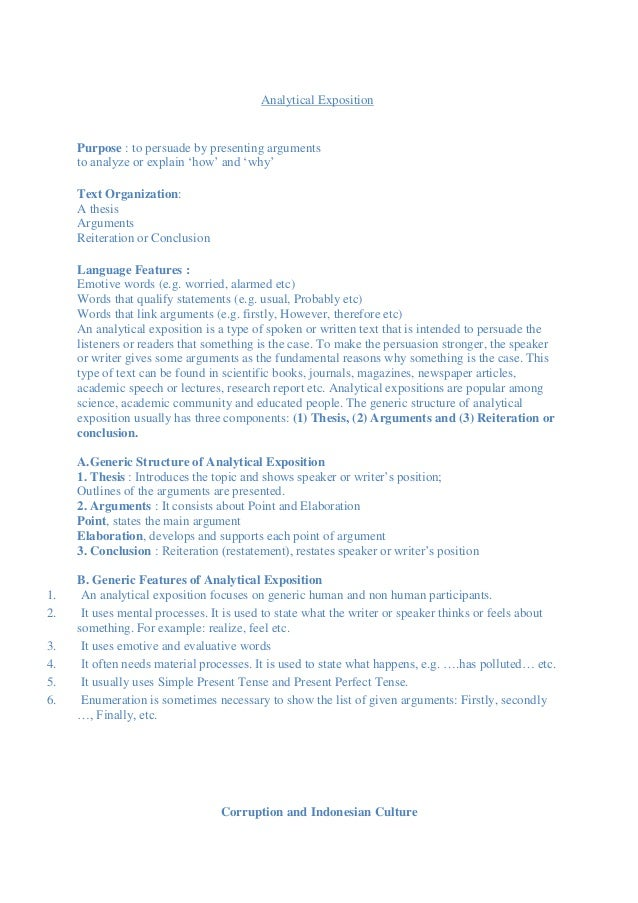 contoh teks analytical exposition beserta thesis argument reiteration