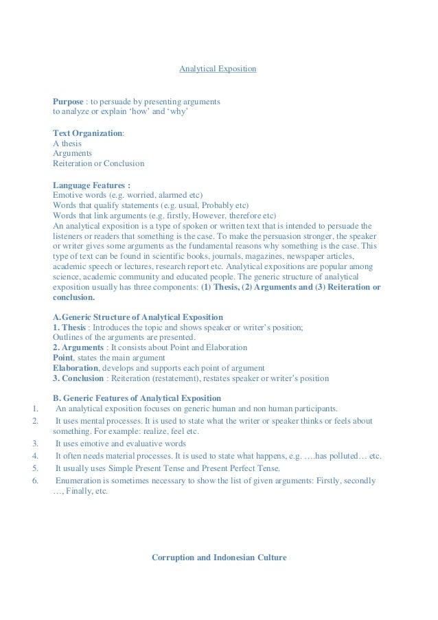contoh thesis argument dan reiteration