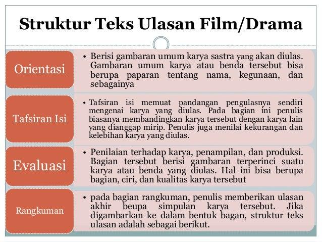Struktur Dan Kaidah Teks Ulasan Film Drama