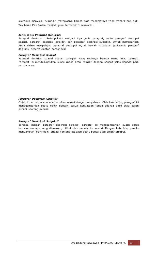 Struktur Teks Deskripsi Bahan Pengayaan