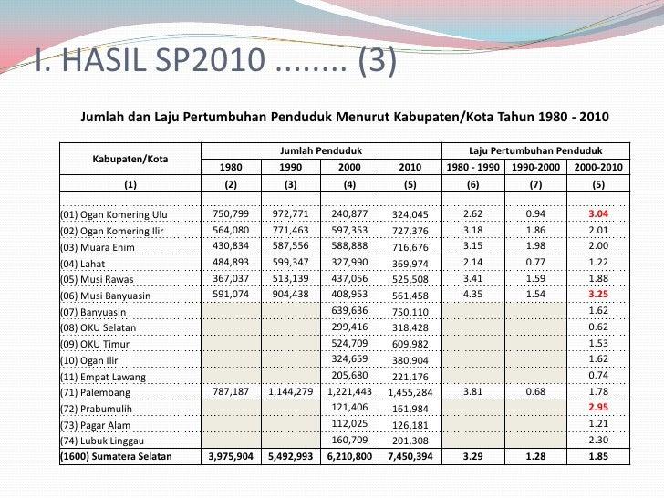 Struktur Umur Penduduk Sumatera Selatan