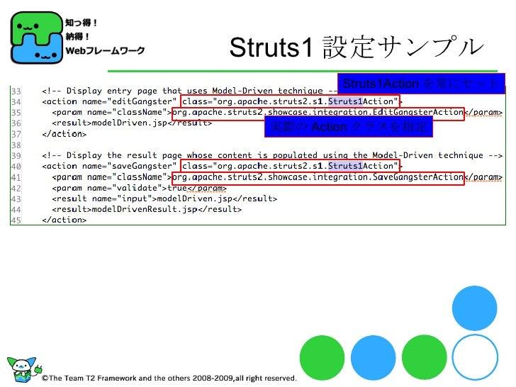 Struts1 設定サンプル Struts1Action を常にセット 実際の Action クラスを指定