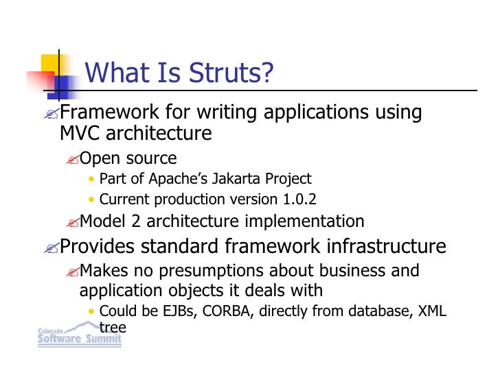 Introduction to struts for Struts 2 architecture