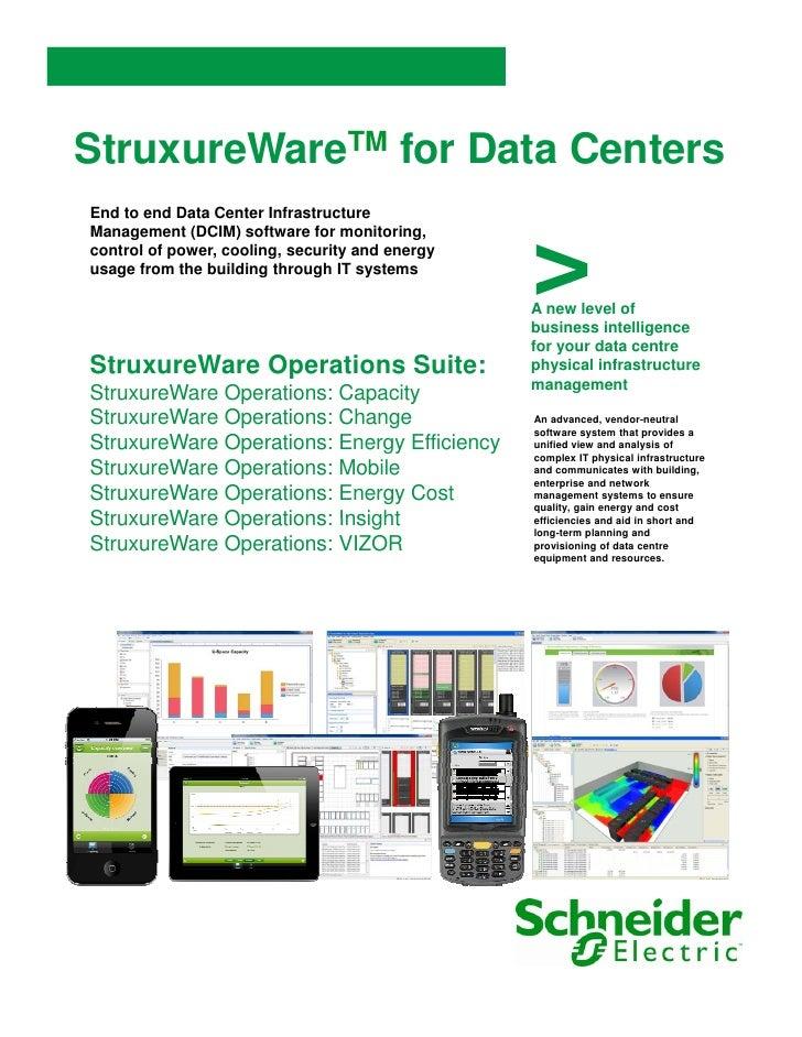 StruxureWareTM for Data CentersEnd to end Data Center Infrastructure                                                 >Mana...