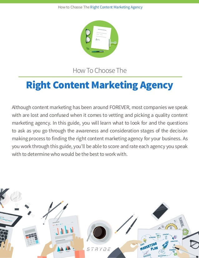 Stryde choose the right content marketing agency ebook for Content marketing agency