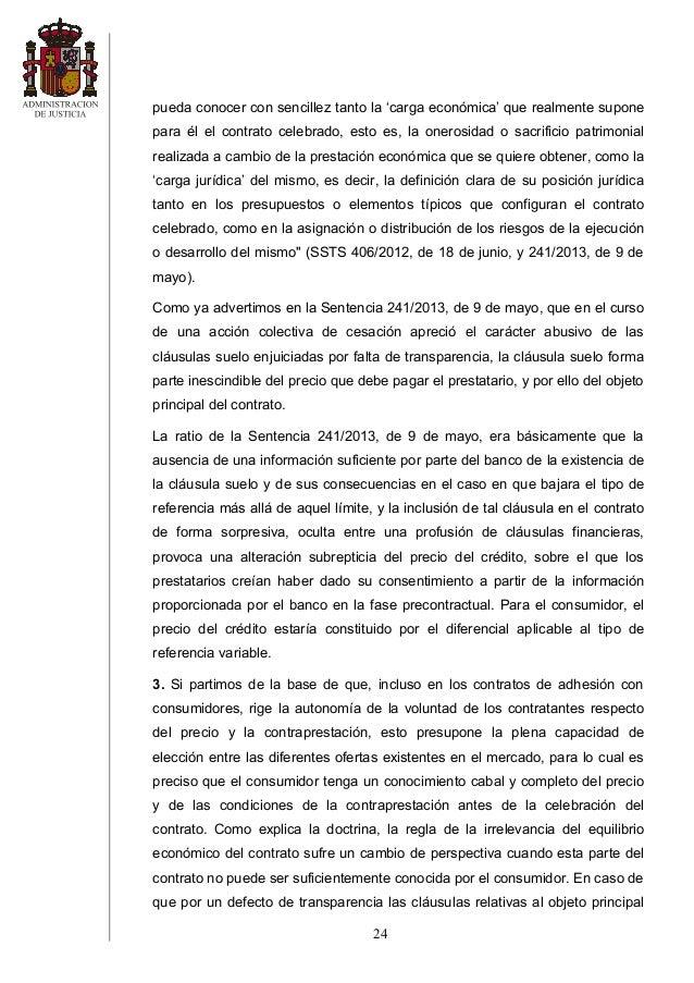 Sts 8 sept 2014 clc3a1usula suelo caja segovia Clausula suelo definicion