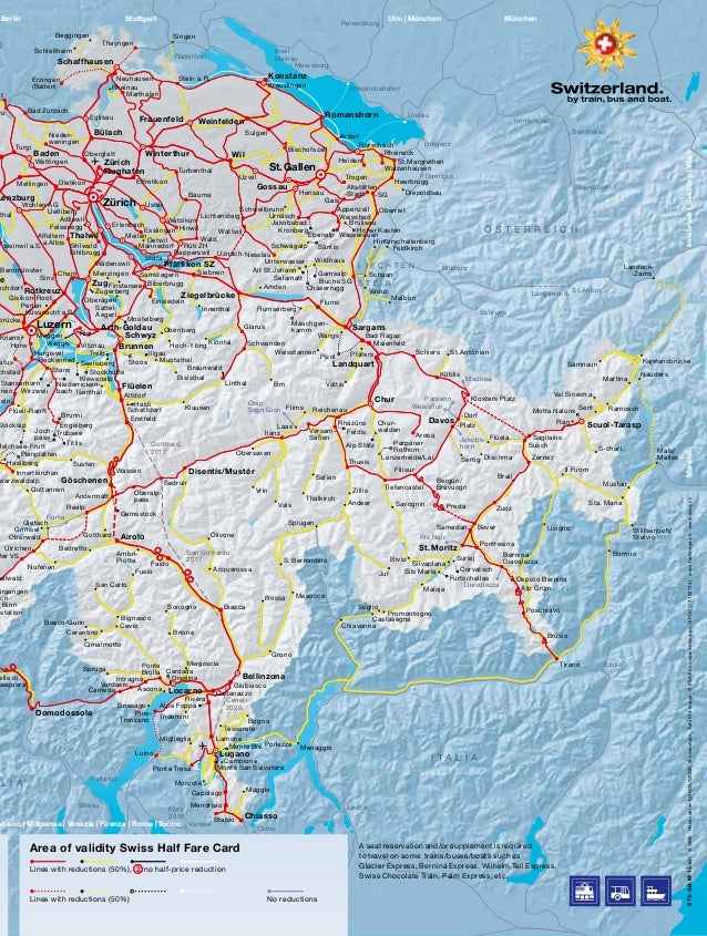 Svizzera le pi belle tratte in treno Swiss Travel System – Swiss Travel System Map