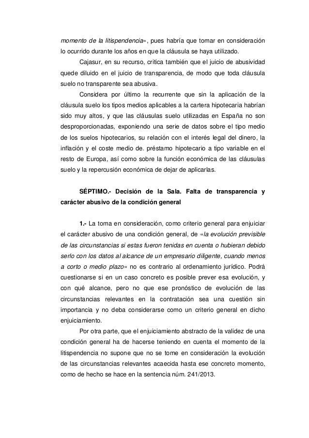Sts clausula suelo 2015 for Ultimo clausula suelo