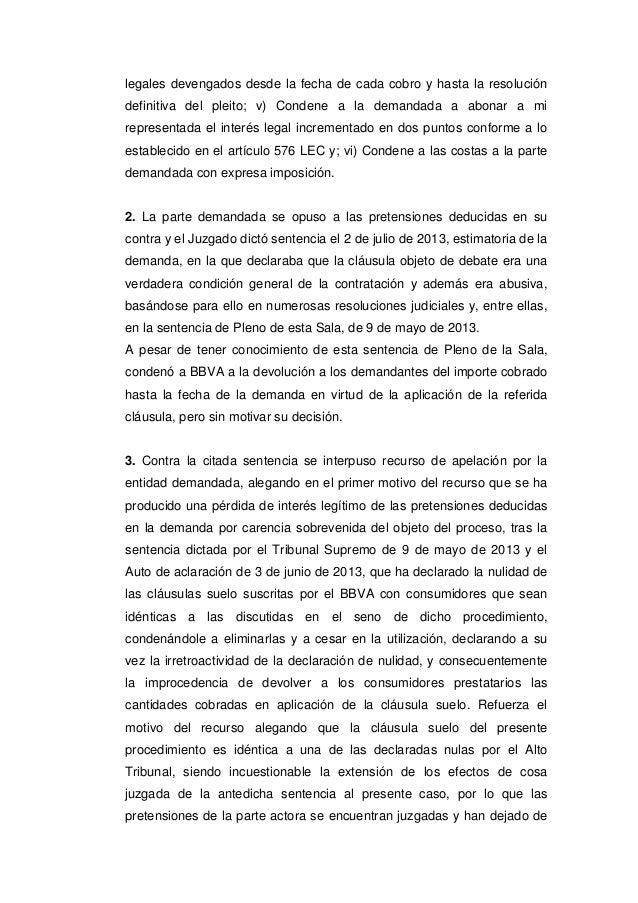 Sts clausula suelo 2015 for Devolucion intereses clausula suelo